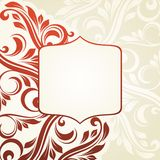 Floral frame. Vintage background with floral pattern for invitations Royalty Free Stock Images