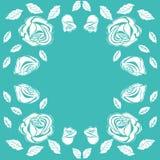 Floral frame vintage rose Royalty Free Stock Images