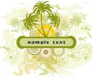 Floral frame - vrctor. Floral background with frame - vector stock illustration