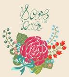 Floral frame for wedding invitation design Stock Image