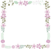 Floral frame for wedding invitations Royalty Free Stock Photo