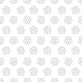 Black and White Ditsy Pattern with Small Flowers for Seamless Texture. Feminine Ornament for Textile, Fabric, Wallpaper. Floral frame on a white background Stock Photography