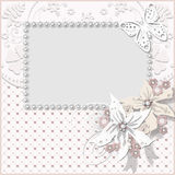 Floral frame with white flowers wedding background Royalty Free Stock Photos