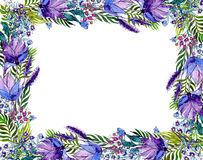 Floral frame with wildflowers Stock Image