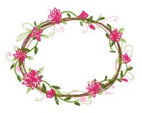 Floral frame for your design Royalty Free Stock Photos