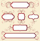 Floral frames. Retro-styled floral frames - illustration royalty free illustration