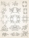 Floral frames Stock Photos