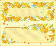 Floral frames royalty free illustration