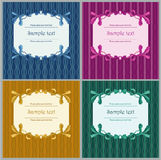 Floral frames. Blue, lilac, green and yellow floral frames Royalty Free Stock Photography