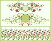Floral frames and border stock illustration