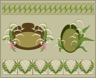 Floral frames and borders. royalty free illustration