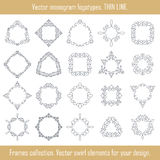 Floral frames collection. Vector set of frames. Swirl elements for design. Stock Photos