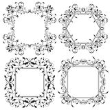 Floral frames. Filigree ornaments. Vector illustration isolated on white background Stock Images