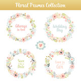 Floral frames with phrases Royalty Free Stock Images