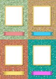 Floral frames for picture with banner for text stock image
