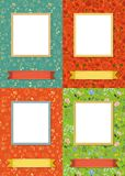 Floral frames for picture with banner for text royalty free stock image