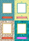 Floral frames for picture with banners for text royalty free stock image