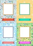 Floral frames for pictures with banners for text royalty free stock photography
