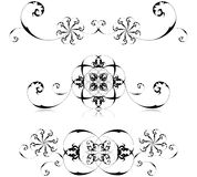 Floral frames set. Vector illustration of floral decoration Royalty Free Stock Photos