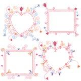 Floral frames set Royalty Free Stock Photos