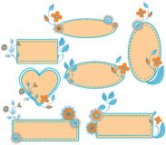 Floral frames set Royalty Free Stock Photos