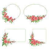 Floral frames. Set of four floral frames in different shapes Stock Images