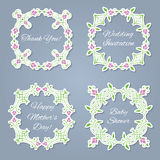Floral frames set for the images or text Stock Photo