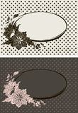 Floral frames. Set of two floral frames on abstract background. Vector illustration Stock Image