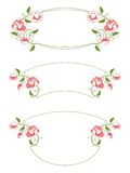 Floral frames and vignette Royalty Free Stock Photography