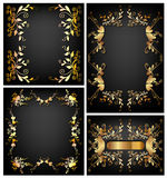 Floral frames wallpaper design Stock Photo