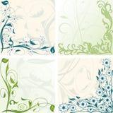 Floral framework set Stock Image