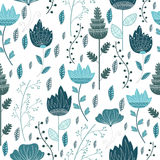 Floral frozen white pattern Royalty Free Stock Photography