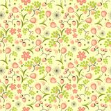 Floral, fruit and berry colorful seamless pattern Royalty Free Stock Images