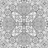 Floral full frame background of geometric designs Stock Photography