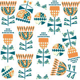 Floral funny seamless pattern. It is located in swatch menu, vec. Tor  illustration. Colorful image Royalty Free Stock Image