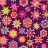 Floral Garden Seamless Pattern Royalty Free Stock Image