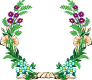 Floral garland Stock Images