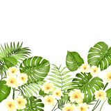 Floral garland card. Royalty Free Stock Photo