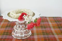 Floral garland culture thailand Royalty Free Stock Photo