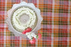 Floral garland culture thailand Royalty Free Stock Images