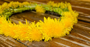 Floral garland made of yellow flowers Stock Photography