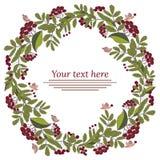 Floral garland, floral wreath. Flowers elements stock illustration