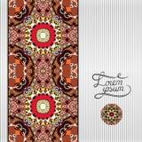 Floral geometric background, vintage ornamental Stock Photography