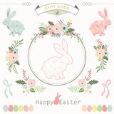 Floral Geometric Easter Collections Stock Images