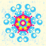 Floral and geometric illustration Stock Photo