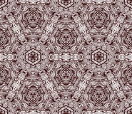 Floral geometric mosaic seamless pattern. Floral mosaic geometric art tiles. seamless pattern vector Royalty Free Stock Photos