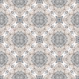 Floral geometric pattern, contemporary style. Floral linear vector seamless pattern in art deco style, 1930s or 1920s wallpaper design in grey white and black Stock Photo