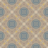 Floral geometric pattern, contemporary style. Floral linear vector seamless pattern in art deco style, 1930s or 1920s wallpaper design in soft warm beige color Royalty Free Stock Photos