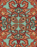 Floral geometric pattern Oriental flower ornament. Abstract seamless pattern with circular ornament Swirl geometric  oriental texture. Ornamental tiled asian Royalty Free Stock Images