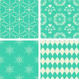 Floral and geometric patterns Stock Image